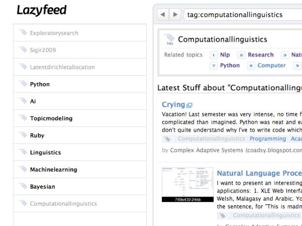 My lazyfeed topics